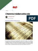 Oumma - L'Homme Médian Est La Voie