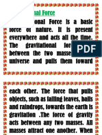 Gravitational Force 3rd Grading Lecture