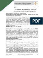Analisis BOD Dan COD Di Perairan Estuaria Krueng C