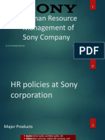 HR Polices at Sony Corporation Final