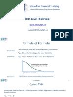 2015 Level I Formula Sheet