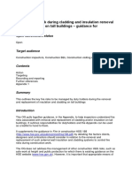 HSE Managing Fire Risk During Cladding and Insulation