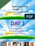 Aralin 5 - Matagumapay Na Entrepreneur Sa Bansa