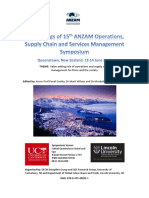 15th ANZAM Operations SC and Services Management Symposium - Conference Proceedings (July 2017)