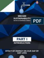 Sustainable Water Energy