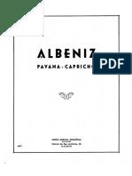 Albeniz  Pavana- Capricho