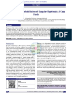 Assessment and Rehabilitation Scapular Dyskinesis