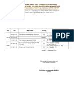 Jadwal Kuliah Pasca Genap 2010