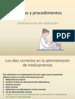 Administracion de Medicación