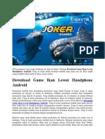 Download Game Ikan Lewat Handphone Android