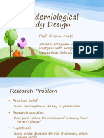 Study Design Epidemiology_Prof Bhisma Murti