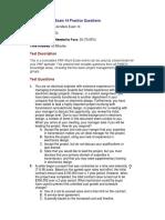 PMP Lite Mock Exam 14 Questions