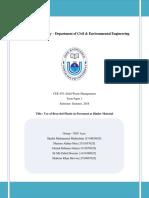NSU Aces CEE 470 Term Paper