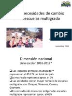 Retos y Necesidades de Cambio Multigrado NOV 2018