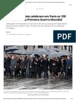 Líderes Mundiais Celebram Em Paris Os 100 Anos Do Fim Da Primeira Guerra Mundial _ Mundo _ G1