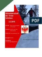 Einladung Tiroler Skimeisterschaft 02.02.2019