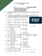 EKT Model Question Paper (Computer Science)-I to II