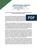 Pronunciamiento del Frente Institucional Militar sobre la violación de la Soberanía por parte de la narco guerrilla colombiana
