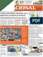 El Nacional, edición del domingo 11 de noviembre 2018