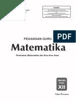 Kunci PR Mat 12 K-13 Minat 2018