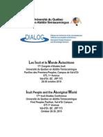 Inuit Studies Conference 17th_ Quebec October 2010 Programme-program