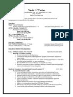 nicole whelan resume-gcu