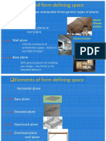 Elements of Form Defining Space in Architecture