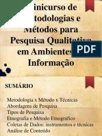 Apresentação Minicurso de Metodologias Qualitativas