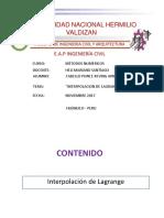 Lagrange Aplicacion