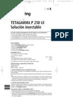 inmunoglobulina antitetánica