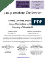 2019 NU Tavistock Group Relations Brochure