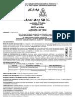 Acaristop 50 SC Panfleto Adama