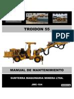 Manual Mantto Troidon 55 - Jmc-164