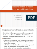 The Doctor and the Mental Health Law