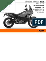2010 Ktm990 Owner Manual
