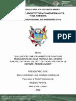 Tesis Mejoramiento PTAP Yauri, Espinar