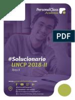 Solucionario Uncp 2018 - II