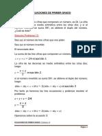 Solucion Ecuaciones Primer Grado Problema 13