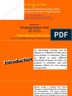 A Study on Advertising & Promotional Strategy of Real Estate Company With Special Reference to Agrasar Group