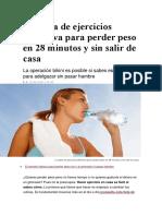 La Tabla de Ejercicios Definitiva Para Perder Peso en 28 Minutos y Sin Salir de Casa