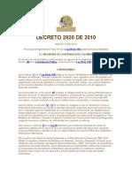 DECRETO 2820 DE 2010