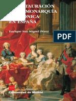 Instauración de la Monarquía borbónica en España.pdf