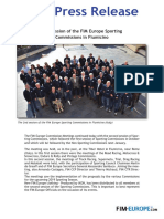 PR 285 2018 FIM Europe Sporting Commissions 2nd Session