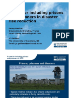 A case for including prisons and prisoners in disaster risk reduction
