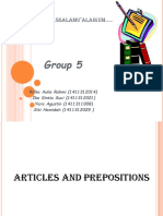 Article and Preposition