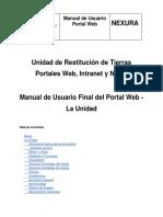 Manual de Usuario Final Portal Web - La Unidad