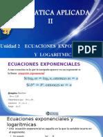 Unidad 2.2 Ecuaciones Exponencial y Logaritmico JCordova.pptx