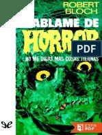 Hablame de Horror - Robert Bloch