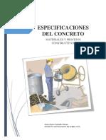 4.4 Especificaciones Del Concreto