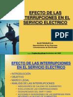 Efecto de Las Interrupciones Del Servicio Eléctrico ELECTROSUR